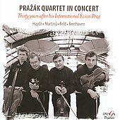 Prazak Quartet in Concert -Thirty Years after his International Evian Prize: Haydn, Martinu, J.Feld, Beethoven (11/27/2006, 3/14/2008)  / Raaf Hekkema(sax)