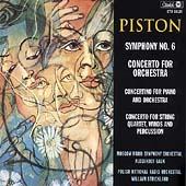 Piston: Symphony No.6, Concerto for Orchestra, Concertino for Piano & Orchestra, etc