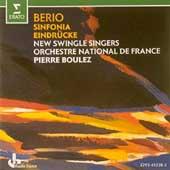 Berio: Sinfonia, Eindruecke / Boulez, New Swingle Singers