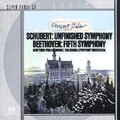 Schubert: Symphony no 8;  Beethoven: Symphony no 5 / Walter
