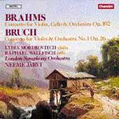 Brahms, J.S.Bruch: Concertos / Mordkovitch, Wallfisch, Jaervi