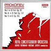 プロコフィエフ: ピアノ協奏曲第1番・第4番・第5番