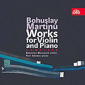 ボフスラフ・マトウシェク/Martinu: Works for Violin &Piano -Elegie H.3, Concerto H.13, Sonata H.120, etc / Bohuslav Matousek(vn), Petr Adamec(p)[SU3950]