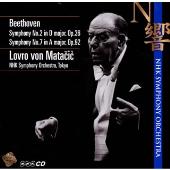ベートーヴェン:交響曲第2番/第7番