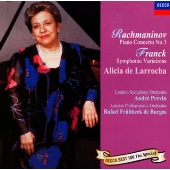 アリシア・デ・ラローチャ/ラフマニノフ:ピアノ協奏曲第3番/フランク:交響的変奏曲<限定盤>[UCCD-7035]