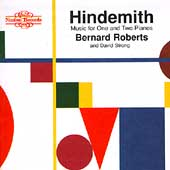 Hindemith: Music for One and Two Pianos / Roberts, Strong