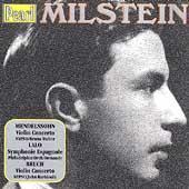 Milstein - Mendelssohn: Violin Concertos;  Lalo, Bruch