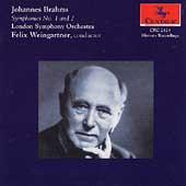 Brahms: Symphonies no 1 & 2 / Weingartner, London SO